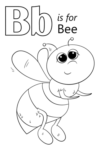Letter B Is For Bee Coloring Page From Letter B Category Select From 26388 Printable Crafts Of Cartoons Na Abc Coloring Pages Abc Coloring Bee Coloring Pages