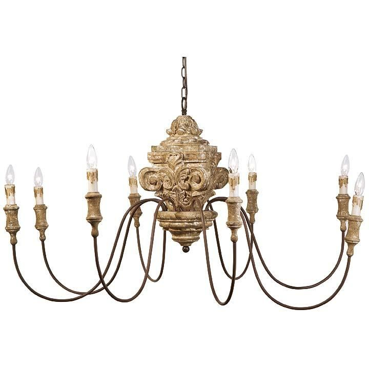 Regina Andrew antique wood carved chandelier $1207 - Regina Andrew Antique Wood Carved Chandelier $1207 Lighting