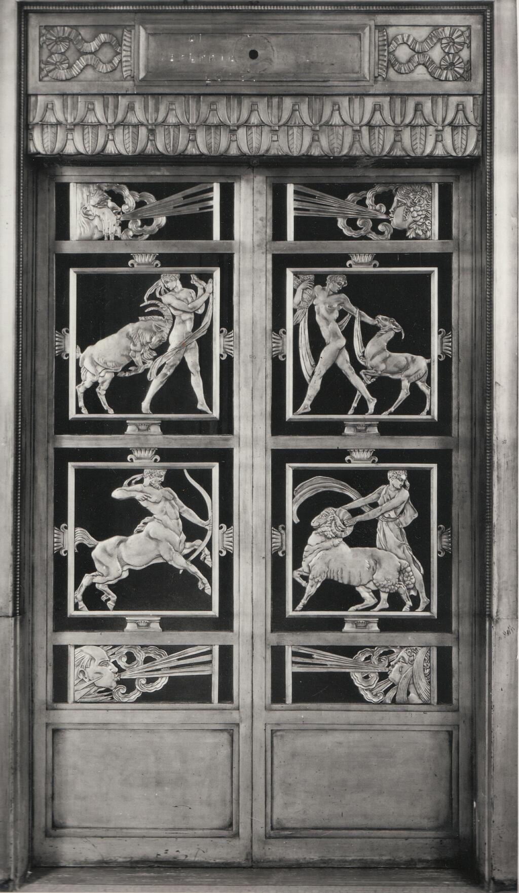 Doors to Mr.Selfridge first store in London