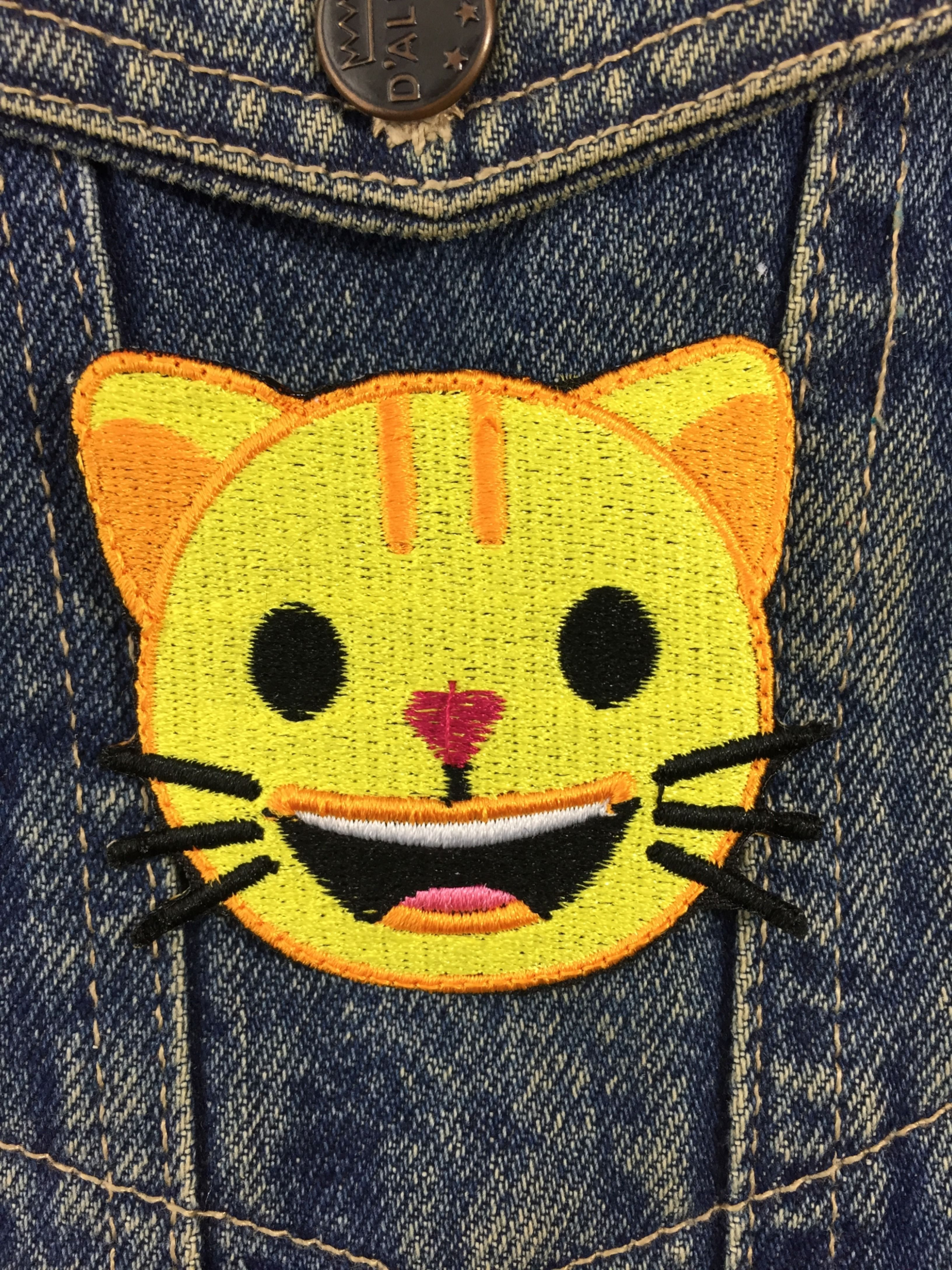 Cat emoji Patch, Embroidery applique, sew on patch jeans t