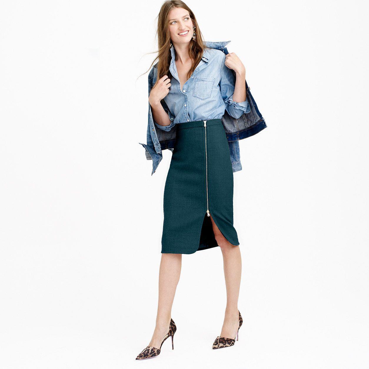 bc1973b5e6 Wool zip pencil skirt : pencil   J.Crew   Stitch fix   Pencil skirt ...