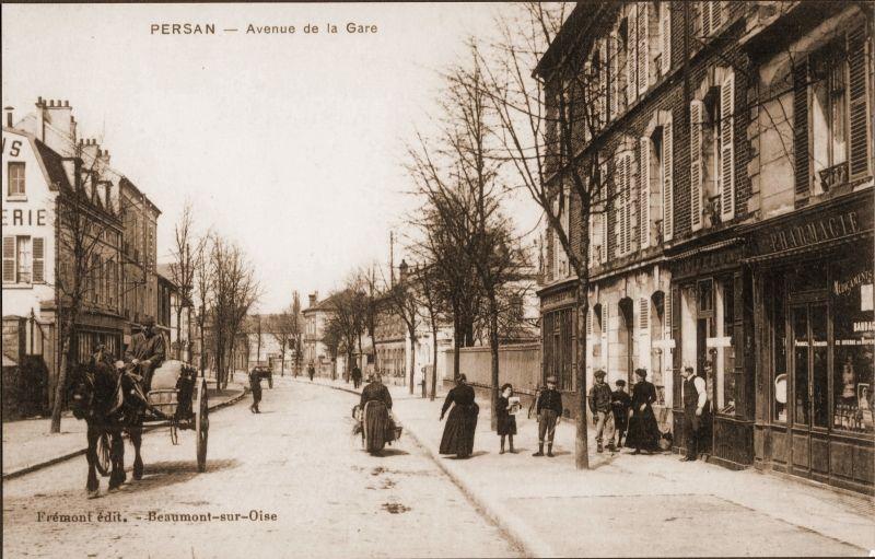 Avenue De La Gare A Persan A Persan Gare Persan Et Cartes