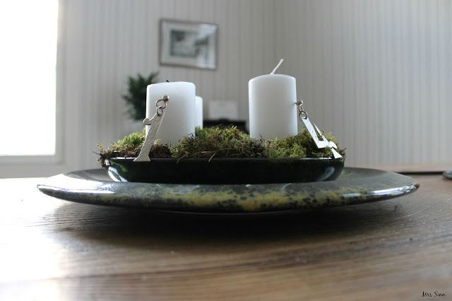 The advent candles. Pic by Mrs Sinn Blog.
