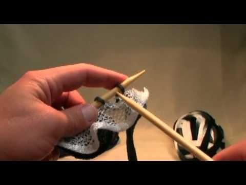 How To Knit Twist Twirl Yarn By Bernat Youtube Ruffled