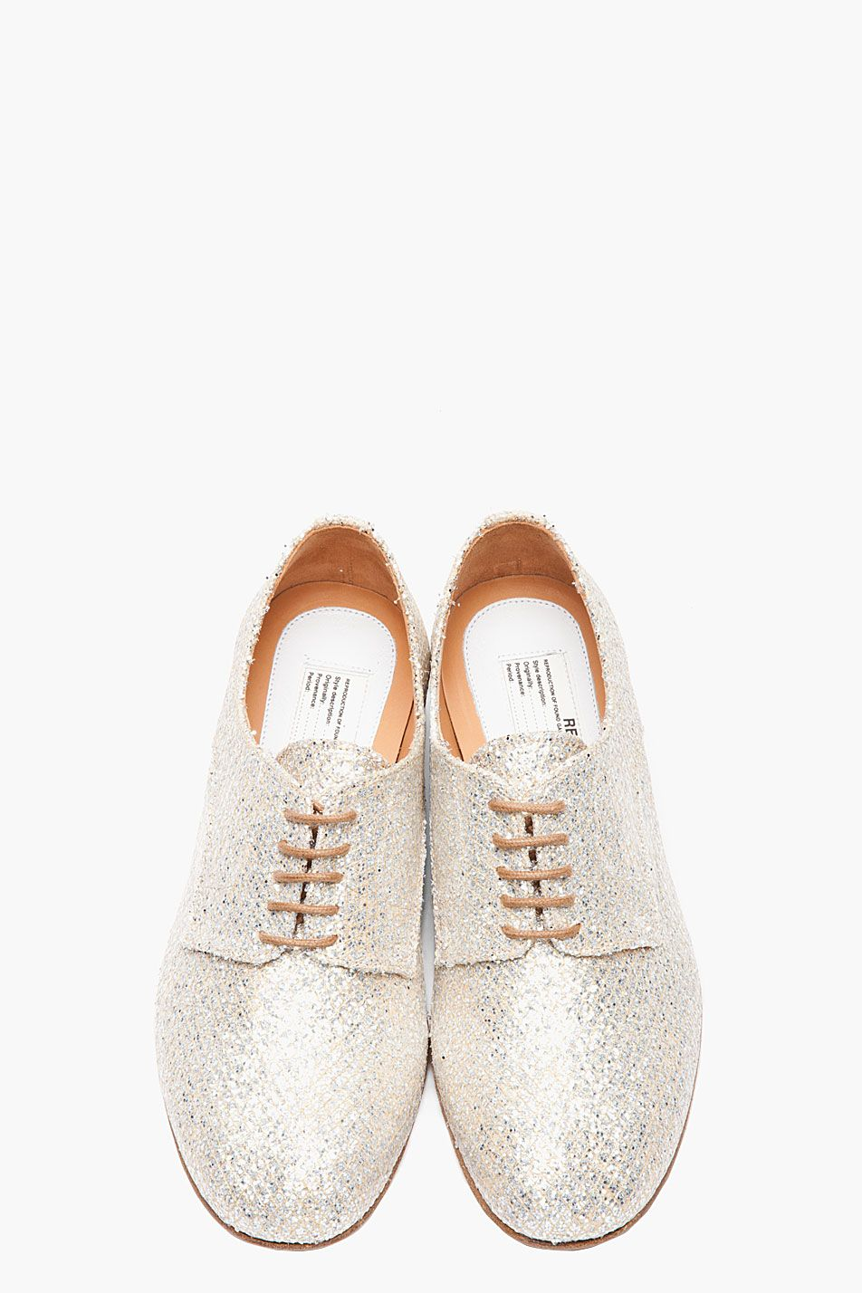 009b5567bd MAISON MARTIN MARGIELA Silver and gold Glitter derby Shoes