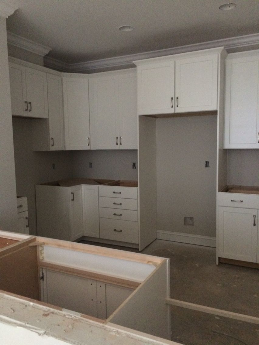 Kitchen Cabinets With The Walls Now Painted Sherwin Williams Agreeable Gray Grey Kitchen Agreeable Gray Grey Kitchen Cabinets