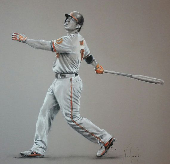 Original Drawing Of Chris Davis Chris Davis Original Drawing The Originals