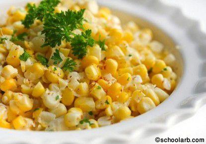 طبق لذيذ يقدم بجانب الأطباق الرئيسية و يقدم للأطفال كذلك الذرة الكريمية وقت تحضير 30 دقيقة وقت الطهي 30 دقيقة تكفي ل5 أ Recipes Creamed Corn Tasty Kitchen