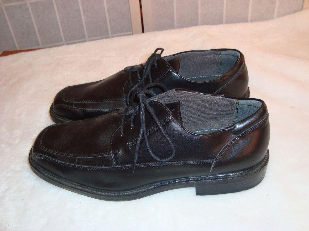 Jarman Sz 13 Faraday Black Leather Bicycle Toe Oxford Dress Shoes