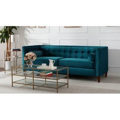 Willa Arlo Interiors Harcourt Tufted Chesterfield Sofa In Teal