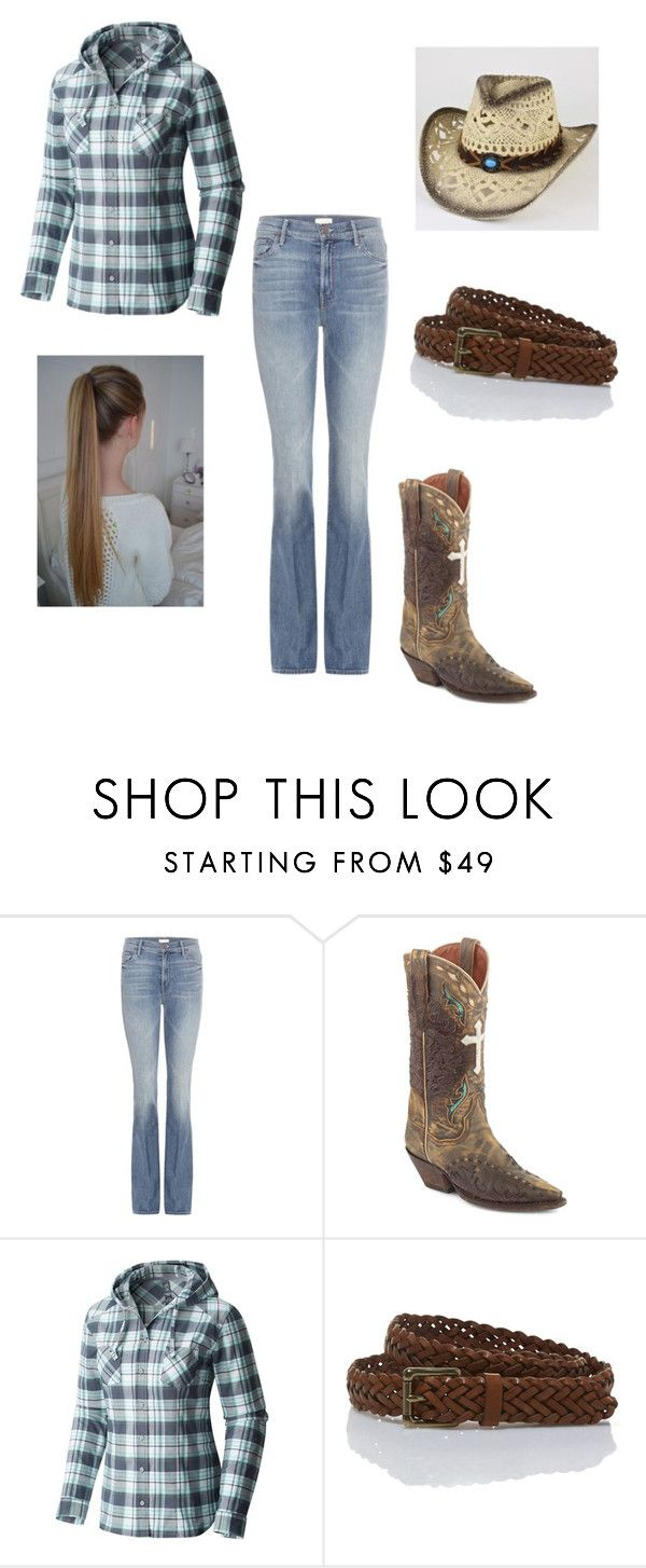 """""""Country chic"""" by oreocookiecat on Polyvore featuring beauty, Mother, Dan Post, Mountain Hardwear, L.L.Bean and country"""