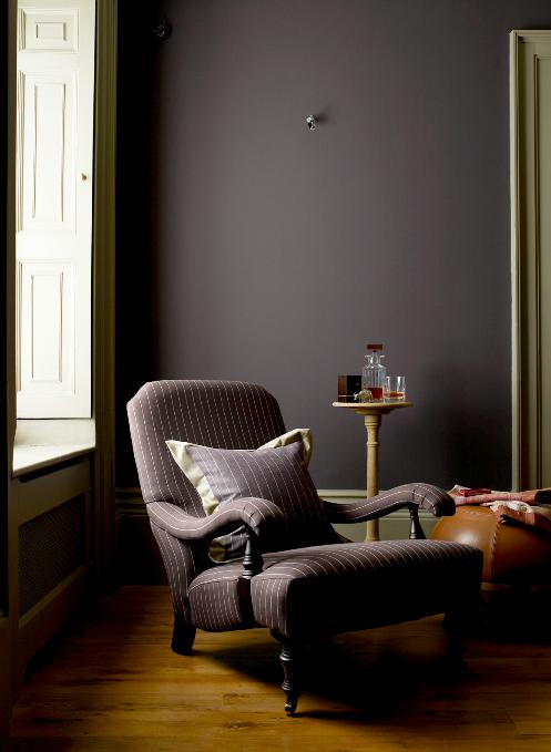 Matte Brown Tones Like Dark Milky Chocolate Divine Image Livingetc Brown Walls Living Room Brown Rooms Brown Walls