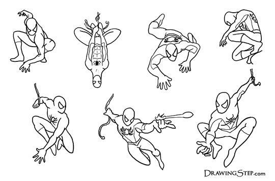 Comic Spiderman Drawings Jpg 540 357 Spiderman Drawing Spiderman Poses Drawing Superheroes