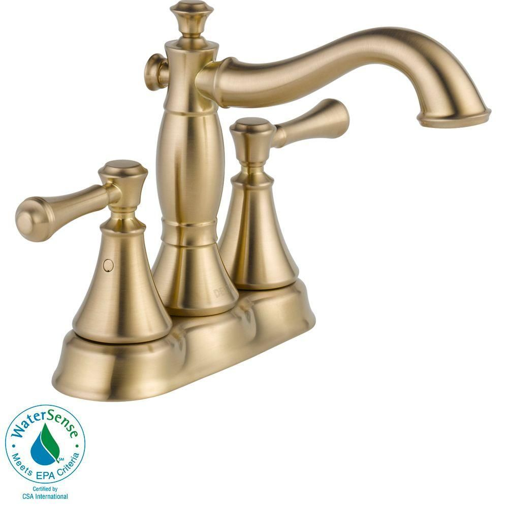 Perfect For A Timeless, Traditionally Styled Bath. Choose This Delta Cassidy  Centerset Two Handle High Arc Bathroom Faucet In Champagne Bronze.