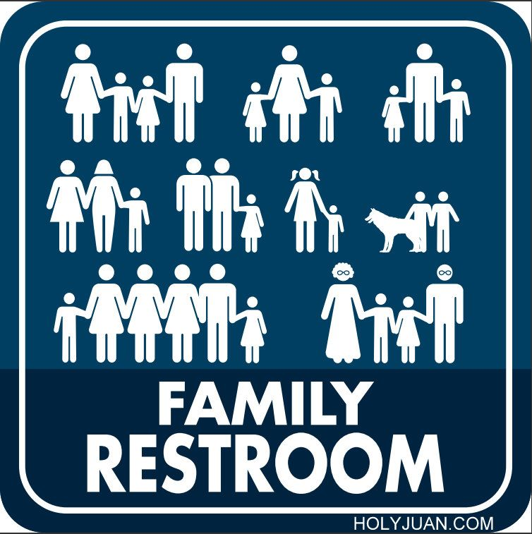 The More Inclusive Family Restroom Sign. The More Inclusive Family Restroom Sign   Interesting   Pinterest