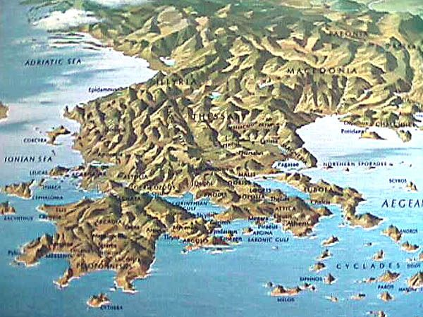 topographical map of greece | Greece | Pinterest | Ancient Greece