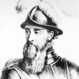 How the Spanish Conquered America: Francisco Pizarro, in armor and wearing a morion-style helmet