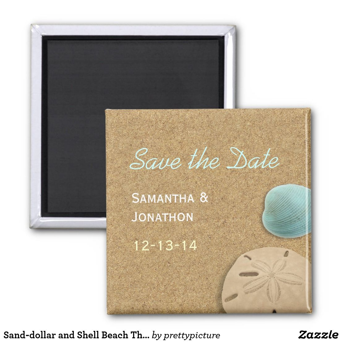 Sanddollar and Shell Beach Theme Save the Date