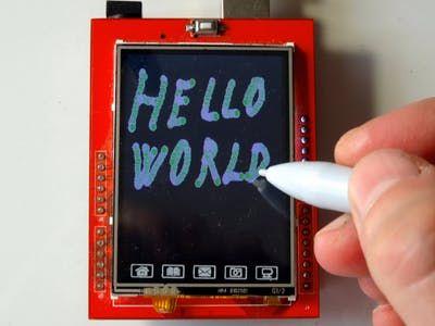 Program Arduino UNO With Visuino to Draw on ILI9341 TFT Touchscreen