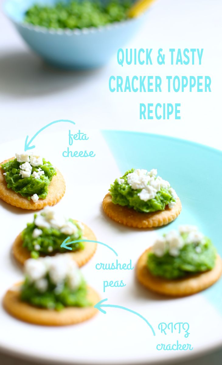 Crushed Pea and Feta Cracker Snacks | Ritz Fresh Stacks Crackers