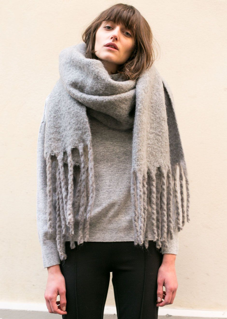 How to long wear scarf with fringe exclusive photo