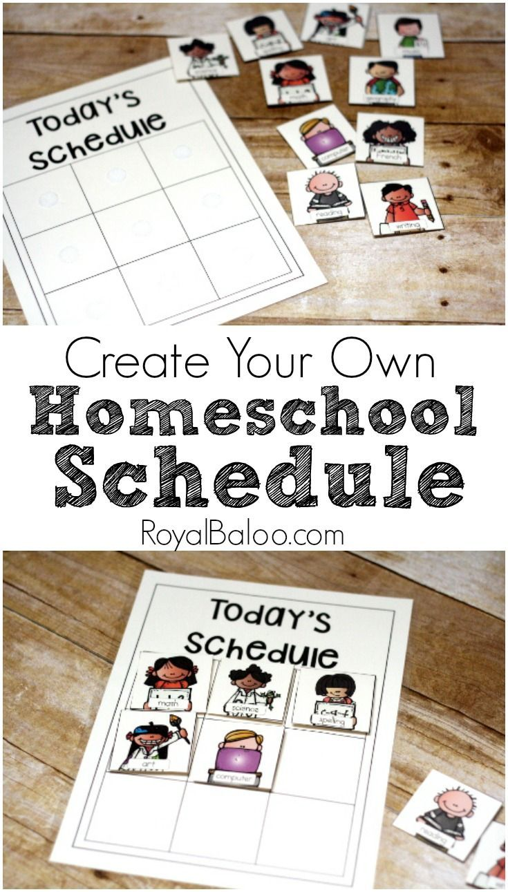 Create Your Own Homeschool Schedule Homeschool