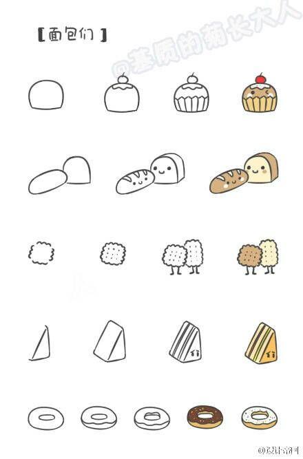 Lovely Foodie2 Desenhos Simples Desenhos Fáceis E