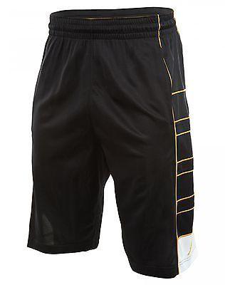 c9c42f6a1 Nike Jordan Jumpman Game Mens 724827-011 Black Gold Basketball Shorts Size M