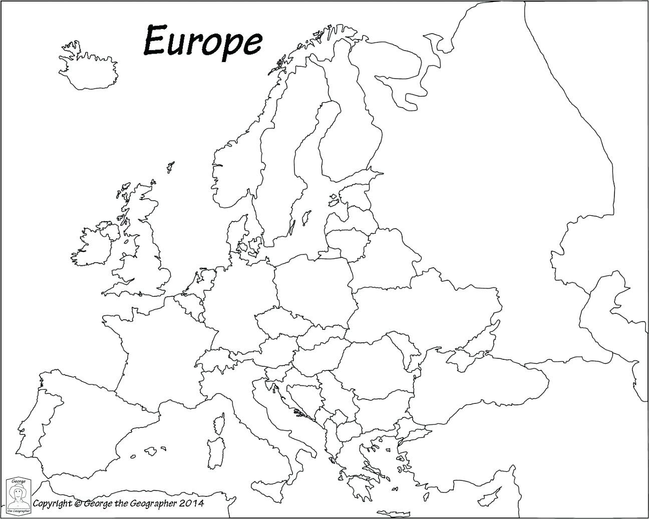 europe political outline map pdf Europe Coloring Map | Europe map printable, Free printable world