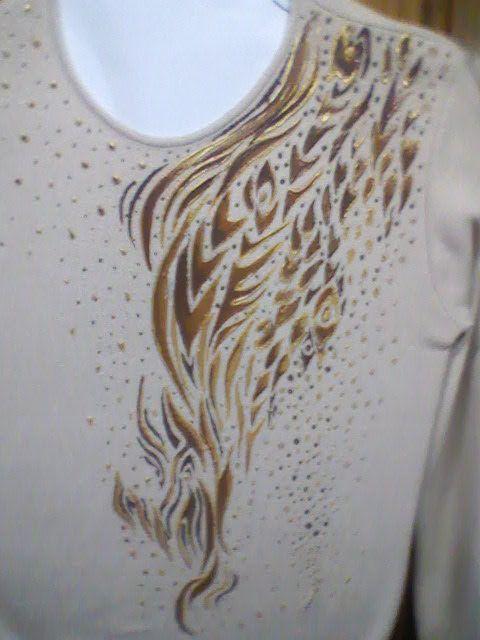 prenda pintada a mano con acrilico