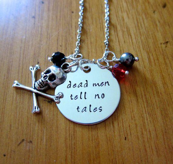 Dead men tell no tales. Pirate Necklace. Skull and crossbones, Swarovski elements crystals, Swarovski elements pearl.