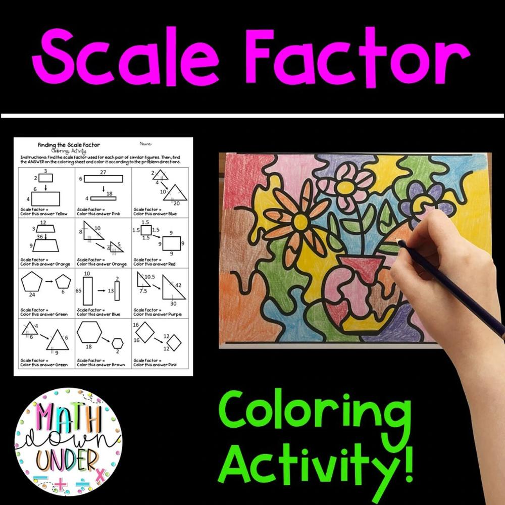 Finding The Scale Factor Of Similar Figures Coloring Activity In 2021 Color Activities Activities Number Activities [ 1000 x 1000 Pixel ]