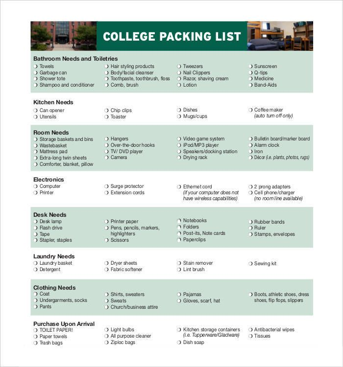 Packing List Template Word Packing List Templates  10 Free Printable Word Excel & Pdf .