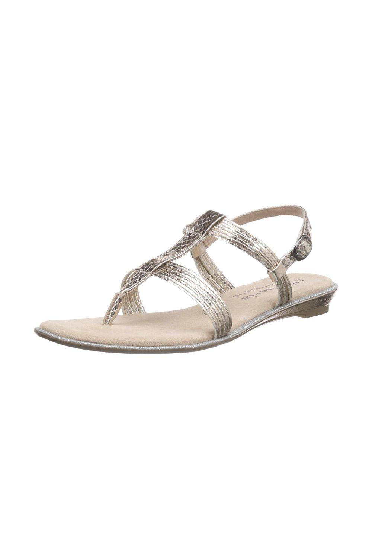 hot sale online fedde f24d2 Tamaris Damen T-Spangen Sandale mit flachem Absatz. Das ...