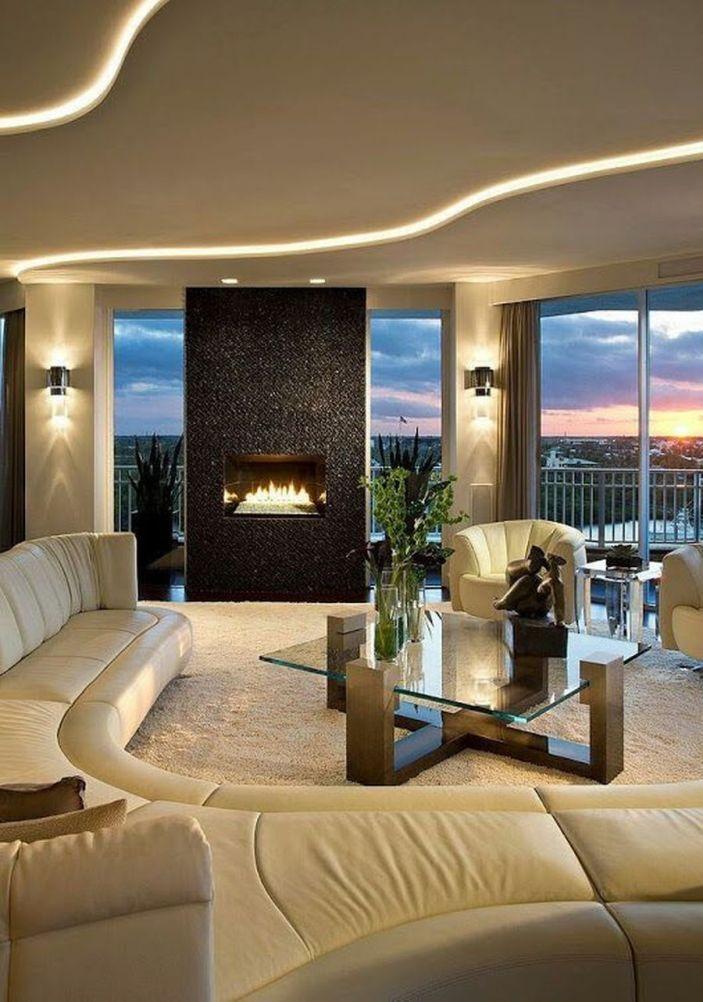 Modern Contemporary Led Strip Ceiling Light Design 27 In