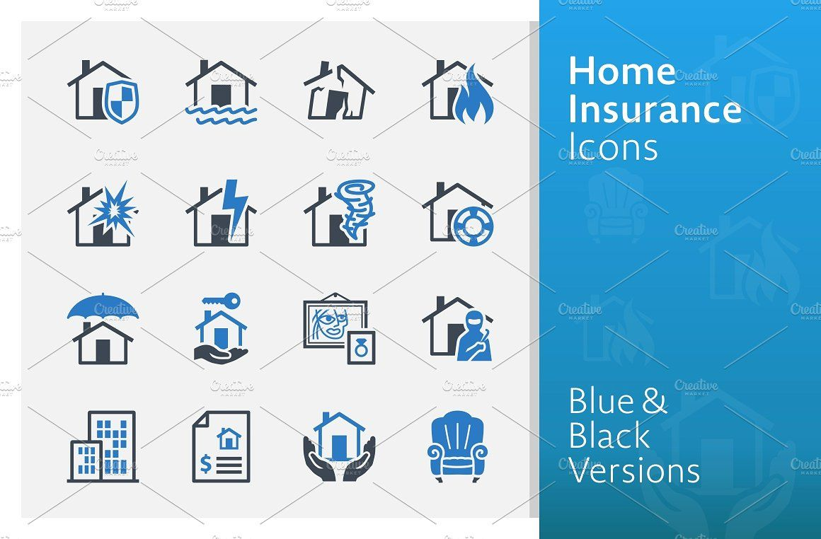Home Insurance Icons Blue Series Home Insurance Quotes Home