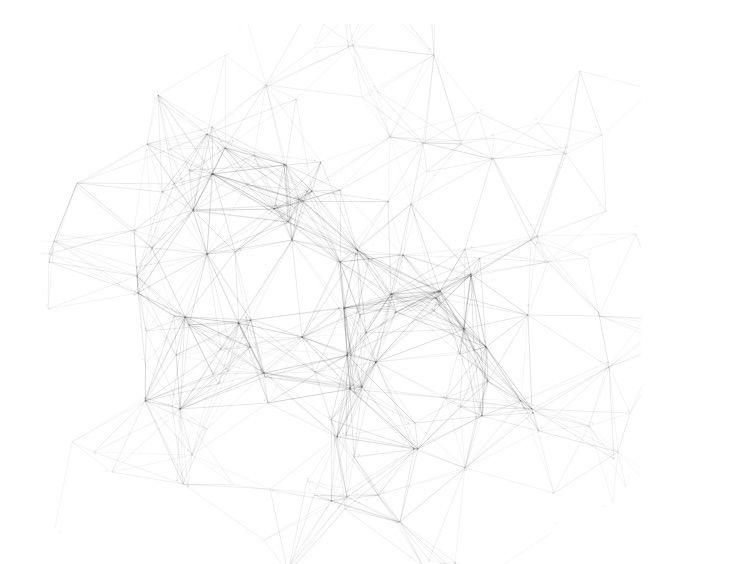 Processing, generiertes Netzwerk von  https://www.openprocessing.org/sketch/391431
