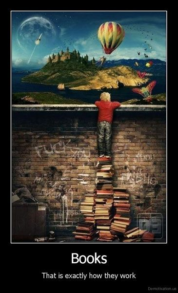 Absolutely brilliant.  Books are a primary tool of self-improvement!