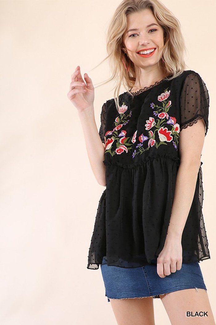 87faa2544f Shana Sheer Floral Top : Black | In Demand - Best Sellers | Floral ...