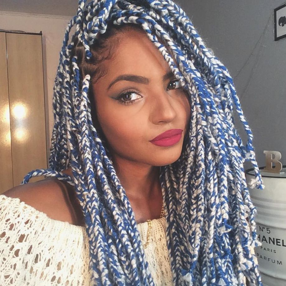 21 beautiful black women slaying in yarn twists, braids and