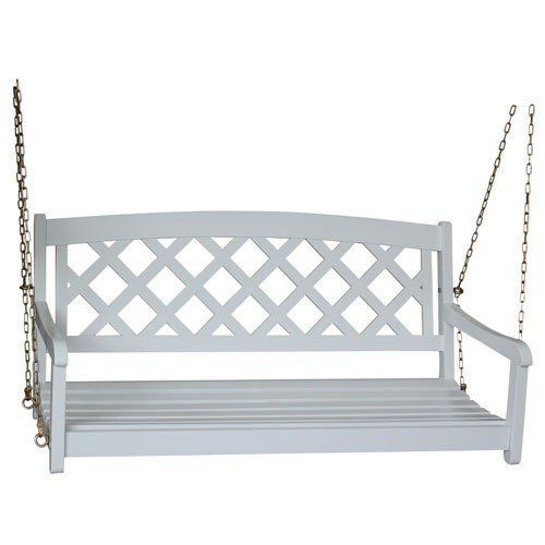 White Porch Swing Wood