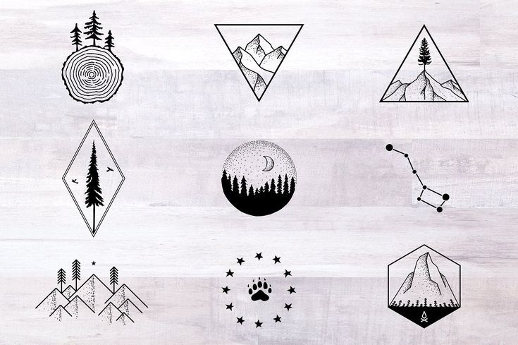 Photo of Nature Tattoo Designs nature tattoo outdoors hiking camping travel vintage rusti…