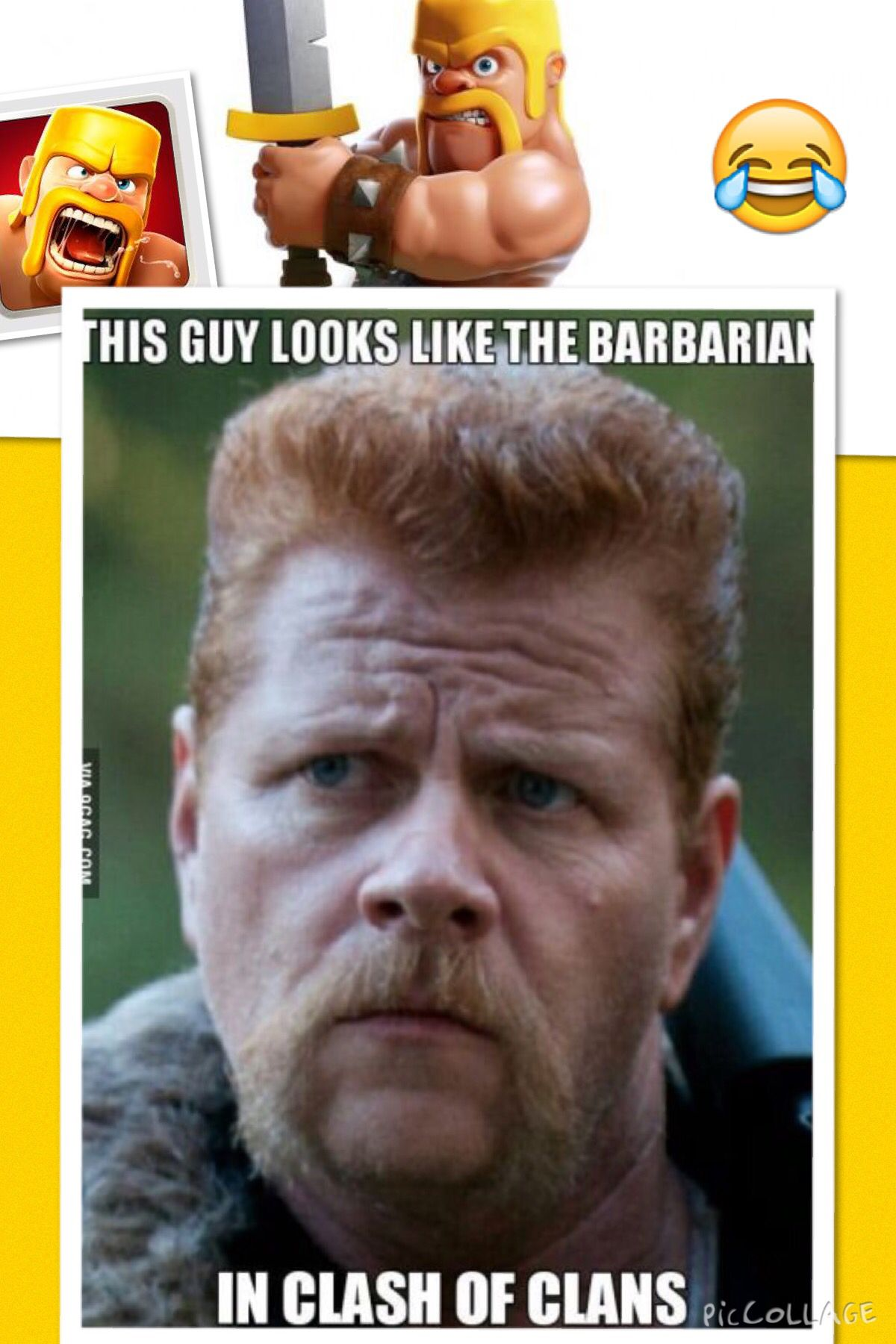 Clash of clans ! if they make a movie, this guys gotta be in it!