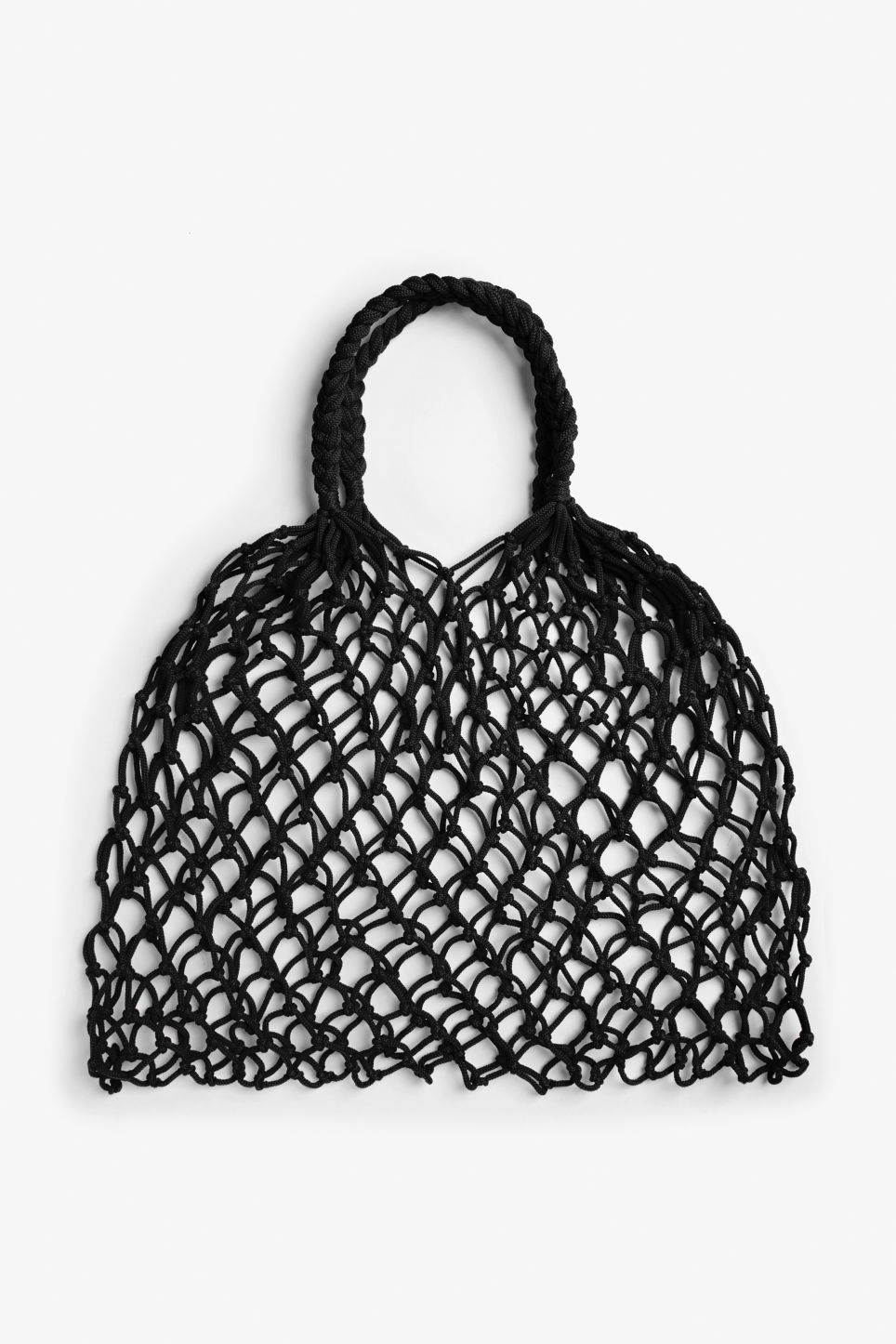 crochet net shopper in Black - Black Monki gQEXM7EtP