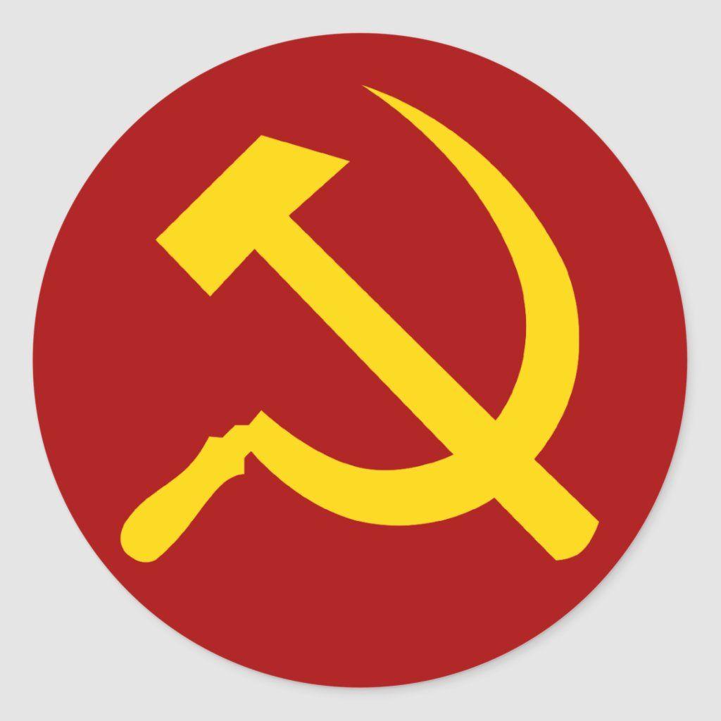 Soviet Union Symbol Sovetskij Soyuz Simvol Classic Round Sticker Zazzle Com In 2021 Union Symbol Soviet Union Union Logo