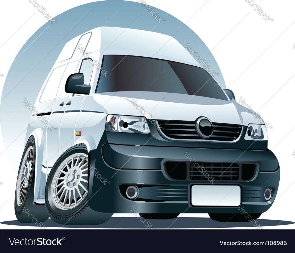 Cartoon Delivery Cargo Van Royalty Free Vector Image Aff