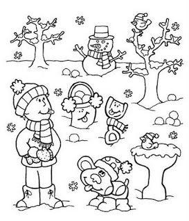 35 Atividades De Inverno Desenhos Colorir Imprimir Com Imagens