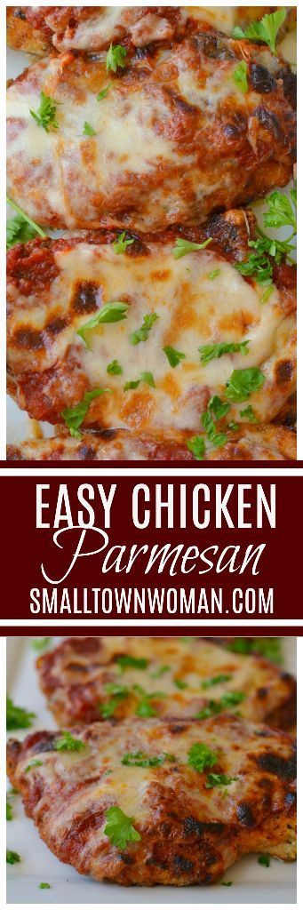 Easy Chicken Parmesan | Small Town Woman #chickenparmesan
