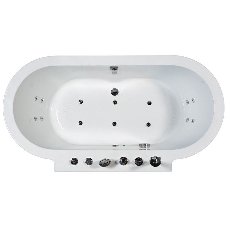 Ariel-128 Free Standing 6 ft Jetted Whirlpool Bath Tub at bluebath ...