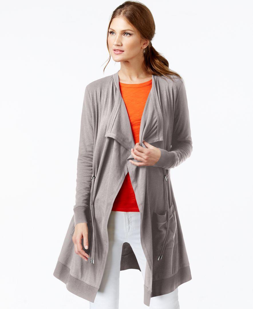 Michael Michael Kors Draped Anorak Cardigan Coat